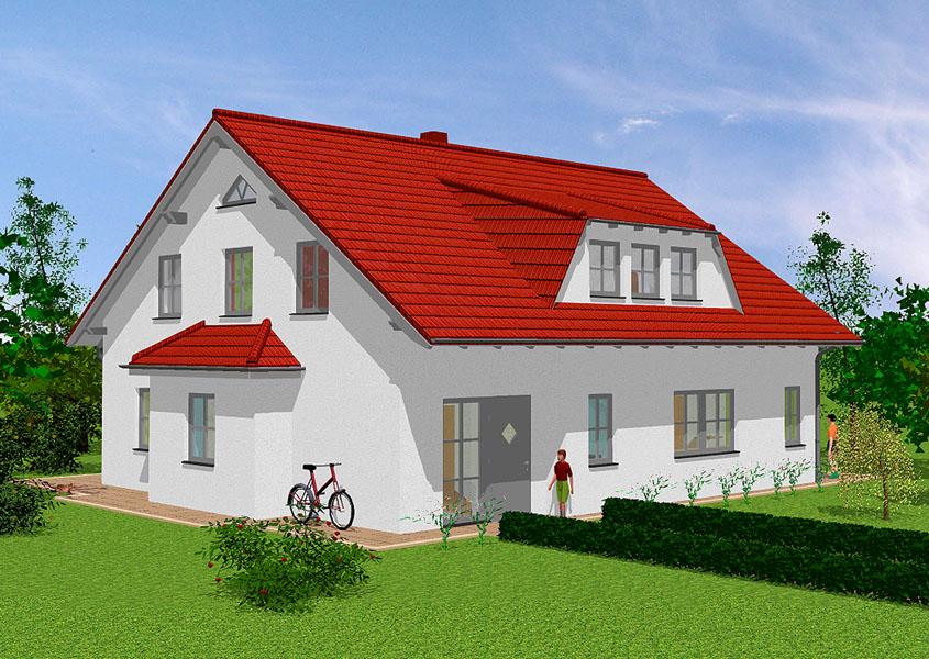 Haus f d gro familie modell k 231 gesamtwohnfl che for Klassisches haus