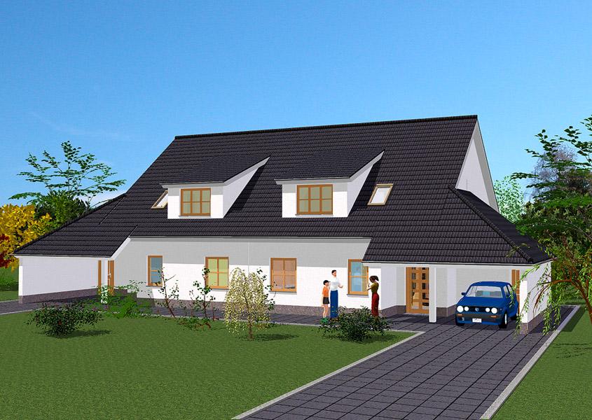 doppelhaus modell d 636 gesamtwohnfl che 135 9 m. Black Bedroom Furniture Sets. Home Design Ideas