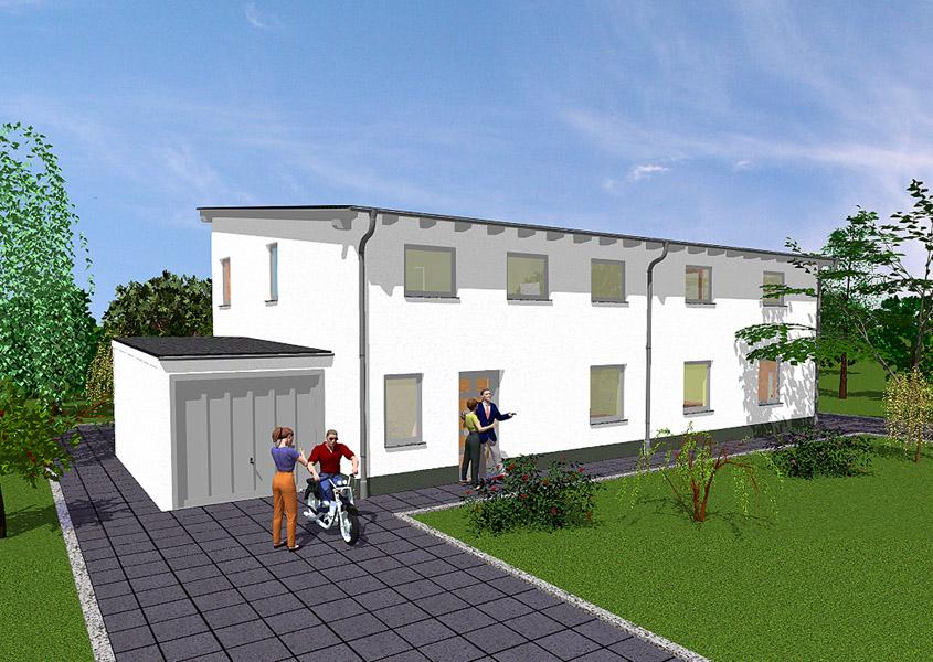 Fabulous Doppelhaus - Modell D 625, Gesamtwohnfläche links 123,6 m² SV13