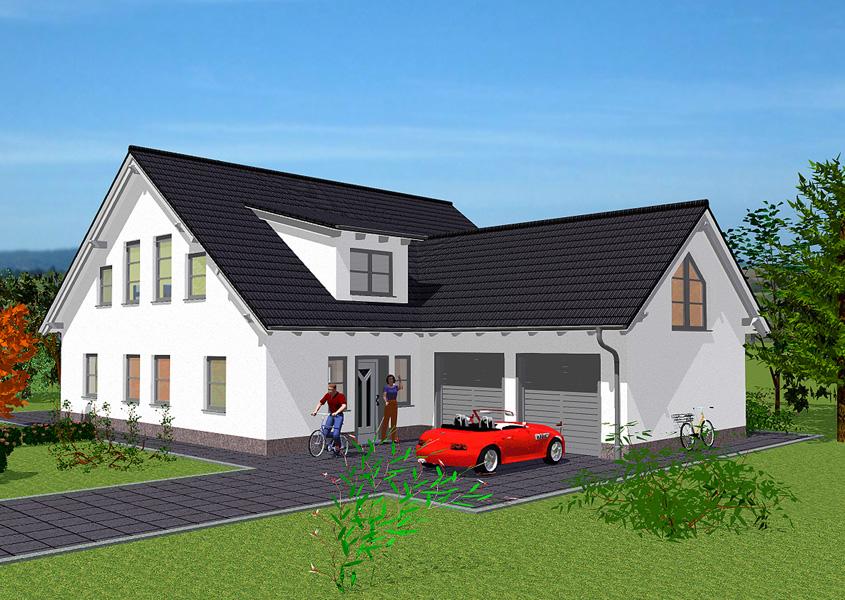 Haus mit doppelgarage  Exklusives Haus - Modell A 457, Gesamtwohnfläche 196,8 m² | Rhein ...