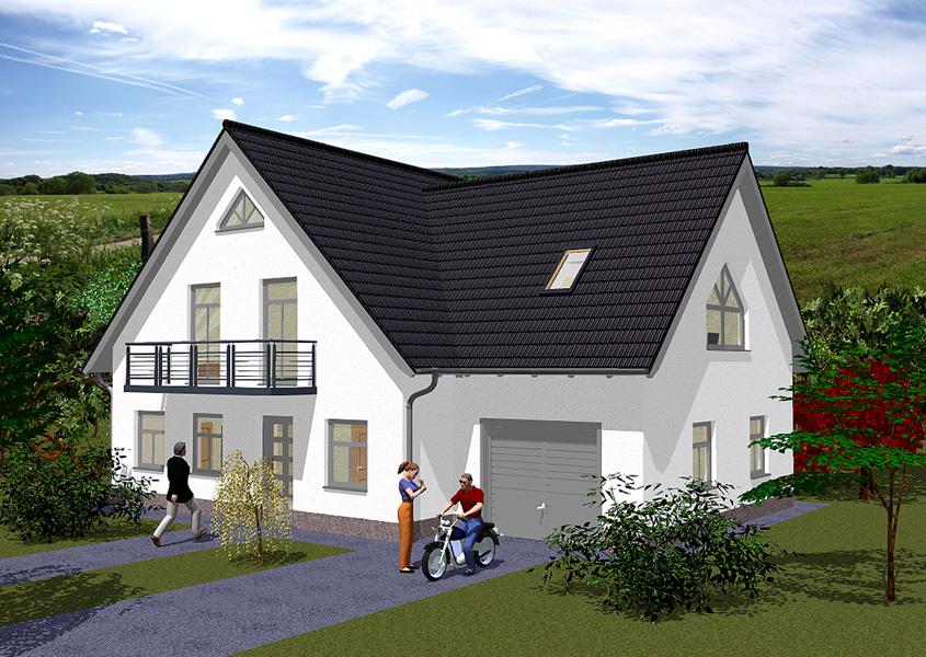 Massivhaus mit garage  Landhaus - Modell L 770, Gesamtwohnfläche 170,7 m² | Rhein-Main ...