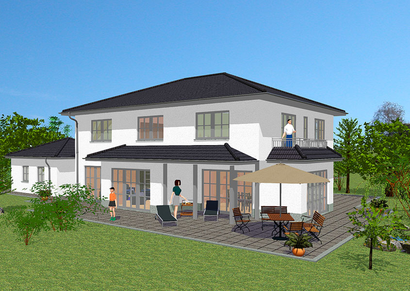 mediterranes stadthaus modell ms 722 gesamtwohnfl che 239 1 m. Black Bedroom Furniture Sets. Home Design Ideas