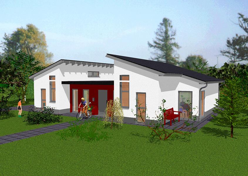 Bungalow modell b 530 gesamtwohnfl che 125 9 m rhein for Luxus bungalow bauen