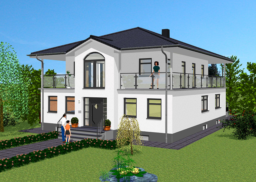 mediterranes stadthaus modell ms 731 gesamtwohnfl che 246 0 m. Black Bedroom Furniture Sets. Home Design Ideas