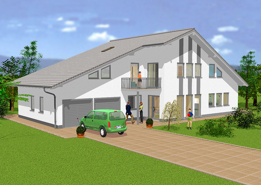 Exklusives haus modell a 402 gesamtwohnfl che 216 9 m for Haus mit doppelgarage bauen