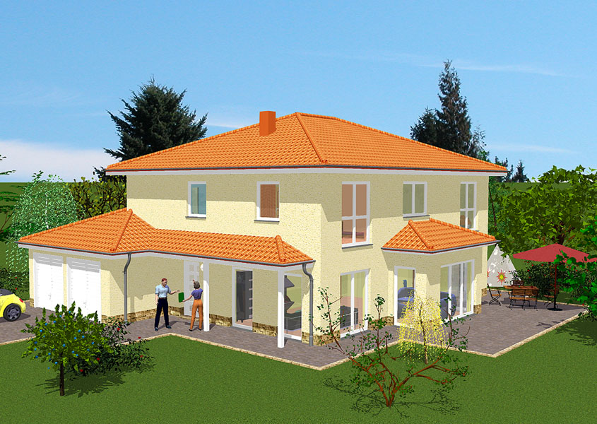 mediterranes stadthaus modell ms 769 gesamtwohnfl che. Black Bedroom Furniture Sets. Home Design Ideas