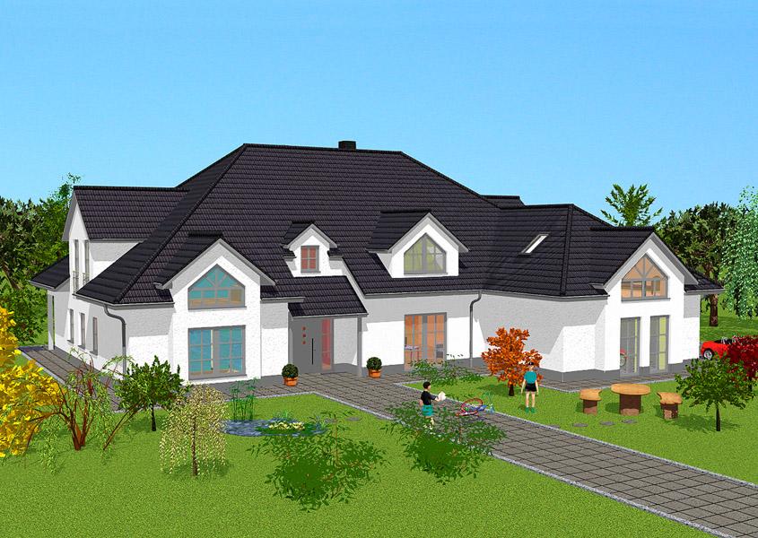 haus f d gro familie modell l 706 gesamtwohnfl che 407 7 m rhein main hausbau gmbh. Black Bedroom Furniture Sets. Home Design Ideas