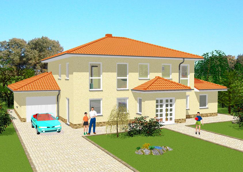 mediterranes stadthaus modell ms 720 gesamtwohnfl che 224 8 m. Black Bedroom Furniture Sets. Home Design Ideas