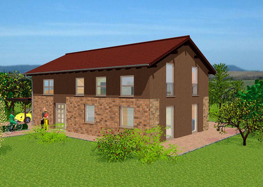 Haus f d gro familie modell k 237 gesamtwohnfl che for Klassisches haus bauen