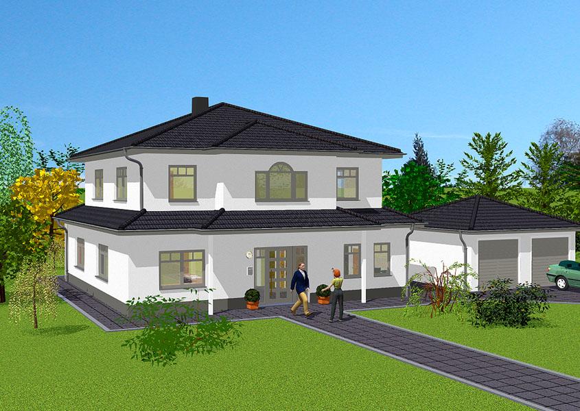 mediterranes stadthaus modell ms 724 gesamtwohnfl che 194 6 m. Black Bedroom Furniture Sets. Home Design Ideas