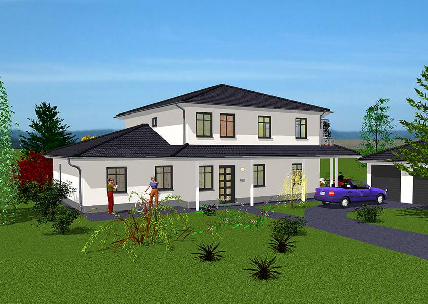 Zweifamilienhaus modell z2 230 gesamtwohnfl che 209 3 for Zweifamilienhaus bauhausstil