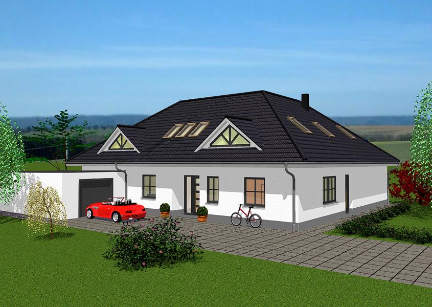 haus mit elw modell b 537 gesamtwohnfl che 236 0 m. Black Bedroom Furniture Sets. Home Design Ideas